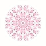 Круглый флористический орнамент иллюстрация вектора