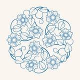 Круглый флористический орнамент Стоковые Фотографии RF
