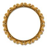 Круглый цвет золота рамки с тенью Стоковые Изображения RF