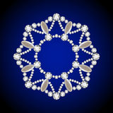 Круглый шкентель диаманта, рамка круга ювелирных изделий иллюстрация штока