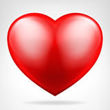 Круглым красным вектор сердца изолированный значком Стоковое Изображение