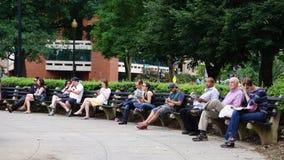 Круг Du Pont в DC Вашингтона Стоковая Фотография