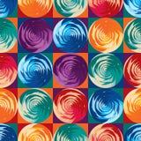 Круг Geo поднял картина квадратной симметрии безшовная иллюстрация штока