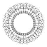 Круг Guilloch в векторе, рамке границы круга, абстрактной круглой рамке иллюстрация штока