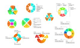 Круг infographic для корпоративного иллюстрация вектора