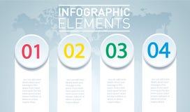 Круг infographic Шаблон вектора с 4 вариантами Стоковая Фотография RF