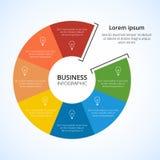 Круг infographic Стоковое Изображение
