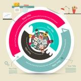Круг Infographics шагов вектора 4 иллюстрация вектора