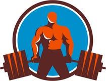Круг Midlift тяжелоатлета ретро Стоковое фото RF