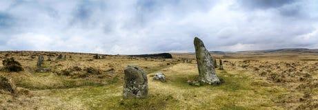 Круг Scorhill каменный на Dartmoor Стоковые Фотографии RF