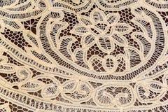 Кружевная белая ткань Стоковое Изображение
