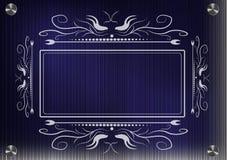 Кружевная рамка для фотографии на голубой предпосылке Стоковое Изображение