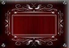 Кружевная рамка для фотографии на красной предпосылке Стоковые Изображения RF