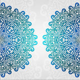 Кружевная этническая рамка фото вектора Орнамент абстрактного круга grunge флористический Стоковая Фотография