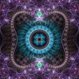 Кружевной красочный clockwork фрактали Стоковые Фотографии RF