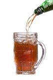 кружка бутылки пива польностью зеленая Стоковая Фотография