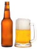 кружка бутылки пива Стоковая Фотография