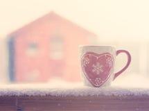 Кружка зимы стоковая фотография