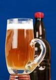 Кружка и бутылка пива. Стоковые Фото