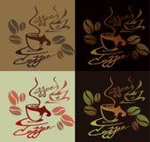 Кружка кофе логотипа с зернами Стоковые Фотографии RF