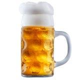 Кружка морозного пива с пеной Стоковая Фотография RF