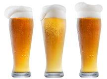 Кружка морозного пива с пеной Стоковое Фото