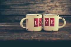 Кружки влюбленности стоковое изображение rf