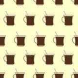 Кружки кофе, придают форму чашки безшовная картина польза кофе предпосылки готовая Стоковые Фото