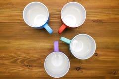 4 кружки кофе Стоковое Изображение