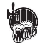 Кружки пива Иллюстрация вектора