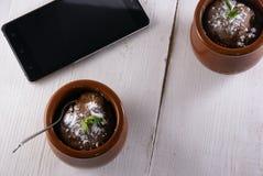 Кружк-торт десерта шоколада Стоковые Изображения RF