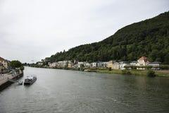 Круизы ехать в Рейне и Реке Neckar в Гейдельберге, Германии стоковое фото