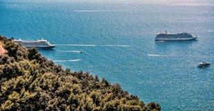 Круизы около Монако стоковое изображение