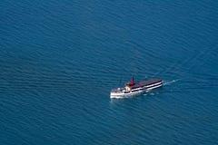 Круизы парохода Earnslaw TSS винтажные в озере Wakatipu, Queenstown, Новой Зеландии стоковое фото