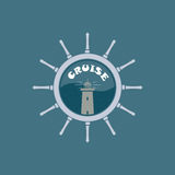 Круиз моря логотипа иллюстрация вектора