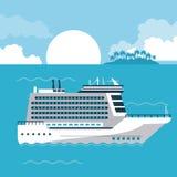 Круиз на море бесплатная иллюстрация