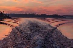 Круиз на Lake Ladoga, Karelia, России Стоковое фото RF
