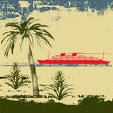 круиз предпосылки тропический бесплатная иллюстрация