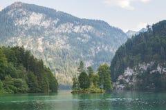 Круиз шлюпки горы Königssee Konigssee озера высокогорный ледниковый Стоковые Фото