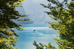Круиз шлюпки горы Königssee Konigssee озера высокогорный ледниковый Стоковые Изображения