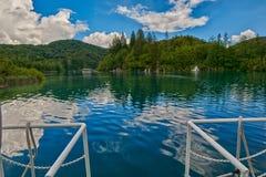 Круиз шлюпки озер Plitvice Стоковые Фото