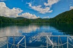 Круиз шлюпки озер Plitvice Стоковые Фотографии RF