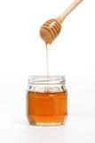 Крупного плана предпосылки ковша меда здоровая очень вкусного белого сладостная Стоковая Фотография RF