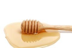 Крупного плана предпосылки ковша меда здоровая очень вкусного белого сладостная Стоковая Фотография