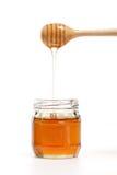 Крупного плана предпосылки ковша меда здоровая очень вкусного белого сладостная Стоковые Изображения