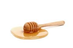 Крупного плана предпосылки ковша меда здоровая очень вкусного белого сладостная Стоковое Изображение RF
