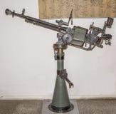 Крупнокалиберный пулемет Degtyarev-Shpagin (DSK) образца в 1938 Стоковые Изображения RF