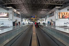 Крупный аэропорт Брюсселя Стоковые Изображения