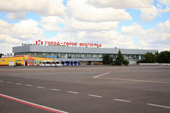 Крупный аэропорт в городе Волгограда Стоковое Изображение RF