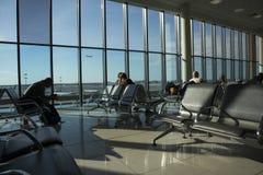 Крупный аэропорт Международный аэропорт Sheremetyevo международный аэропорт расположенный в Khimki, области Москвы, России, 29 km Стоковые Фото